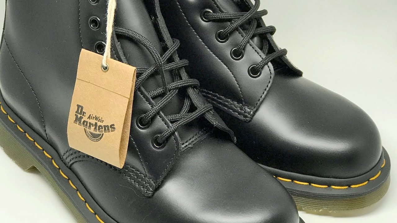 BootBlack 1460 Eight Leather4K DrMartens Lace Up Eye Originals Smooth Y6vf7Ibgym