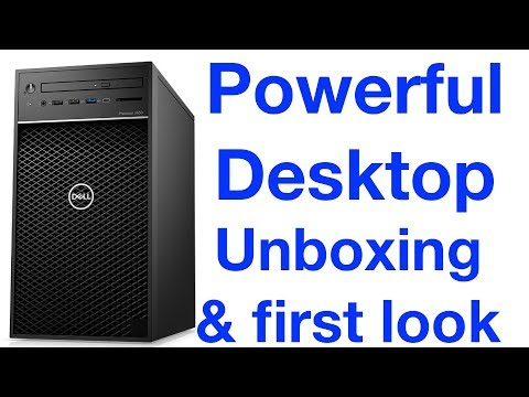 Powerful Desktop Dell Precision 3630 Unboxing & first look