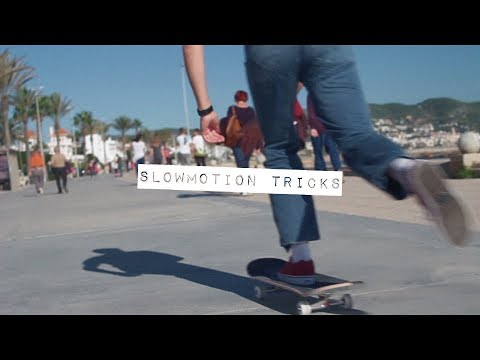 SKATEBOARD  | Slow motion tricks for beginners (HD)