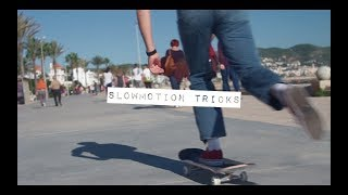 SKATEBOARD  | Slow motion tricks for beginners (HD)