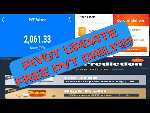 "PIVOT LATEST UPDATE "" FREE BTC/PVT/PVTP """