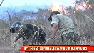 TRES ESTUDIANTES DE ESBAPOL CON QUEMADURAS