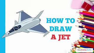How to Draw a Jet in a Few Easy Steps: Drawing Tutorial for Kids and Beginners