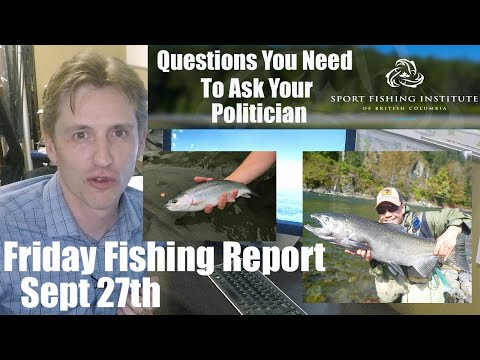 Pacific Angler Fishing Report Sept 27th - Important Fishing Politics Questions!