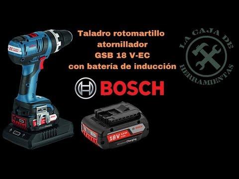 Taladro Bosch GSB 18 V-EC con baterías por inducción