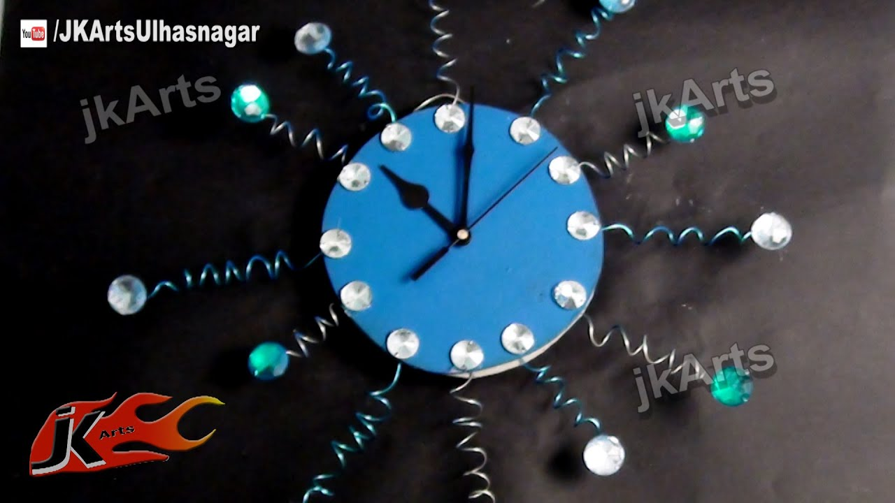 Diy designer wall clock how to make jk arts 483 youtube amipublicfo Image collections