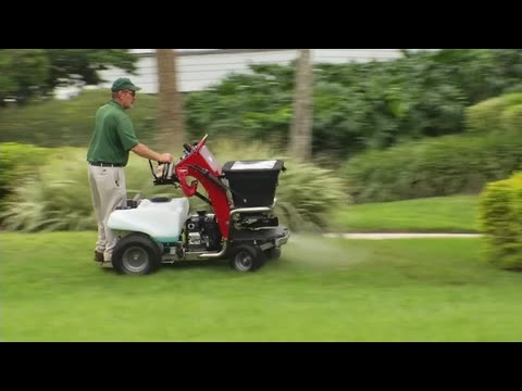 Stand On Spreader Sprayer Youtube