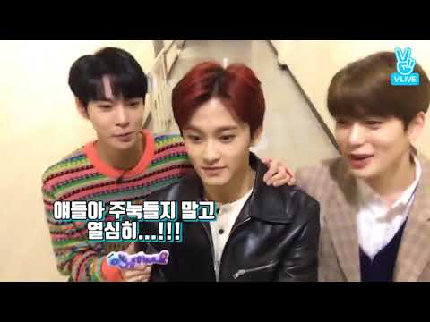 [NCT] MARK being so nervous on set : highlight