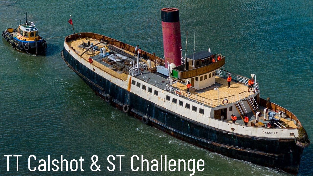 TSS T/T Calshot and ST Challenge On the River Itchen Southampton - Steam Power