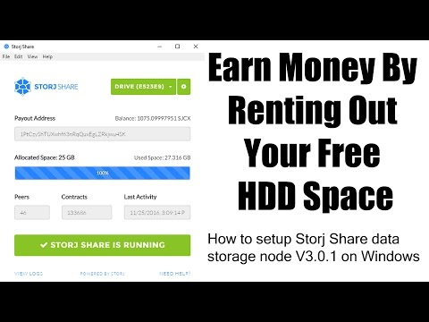 Storj Share Setup - Earn Money By Renting Out Your Free HDD Space