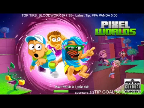 Pixel worlds Livestream #200 200th stream waiting for 1.2 update 2hrs 30 mins