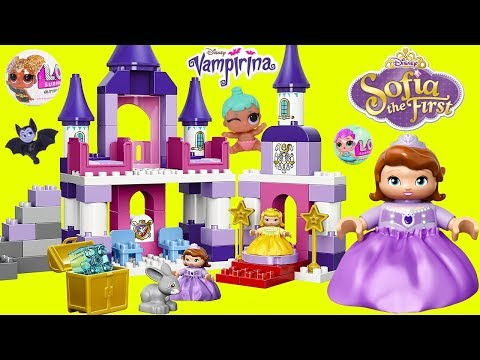 LOL Surprise Doll Disney Princess Sofia Lego Duplo Castle Baby Barbie My Little Pony Morning Party!