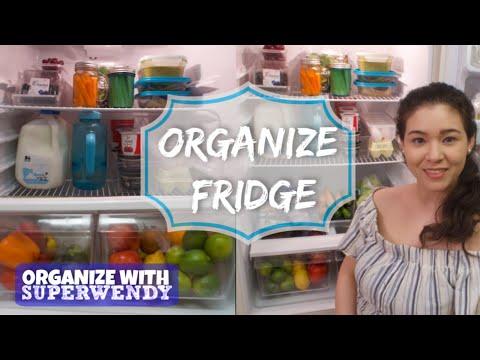 Small Fridge Dollar Tree Organization Ideas | Food Storage Tips and Hacks | SuperWendyTime