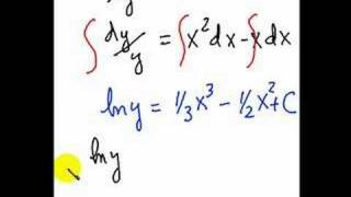 Solving a 1st order differential equation