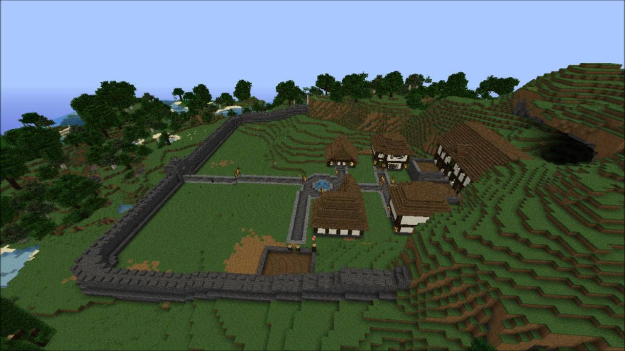 how to find towns in minecraft