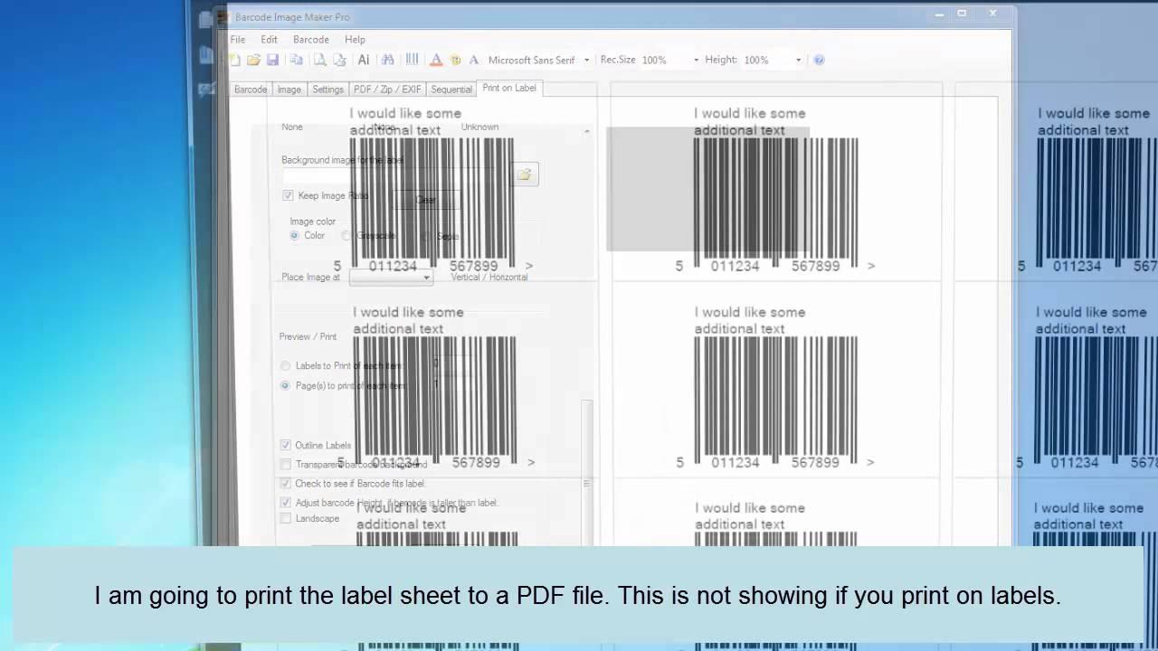 Create a EAN-13 barcode