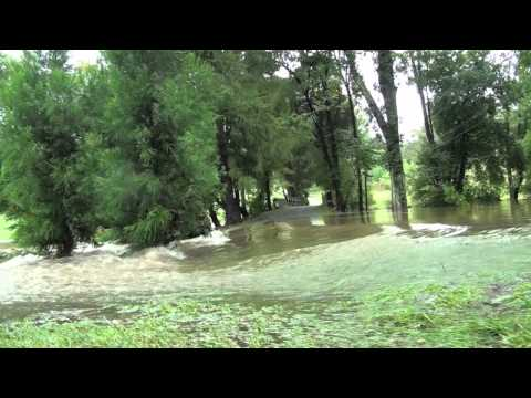 Hurricane Irene Flooding on North Ridley Creek Road Media Pennsylvania