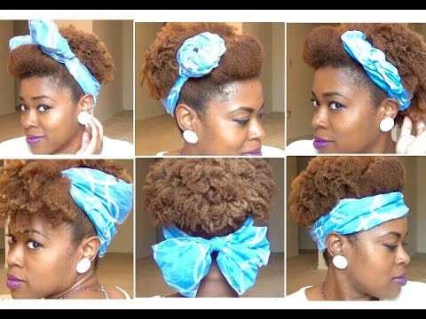 Natural Hair Fancy Ways To Wear A Scarf Youtube