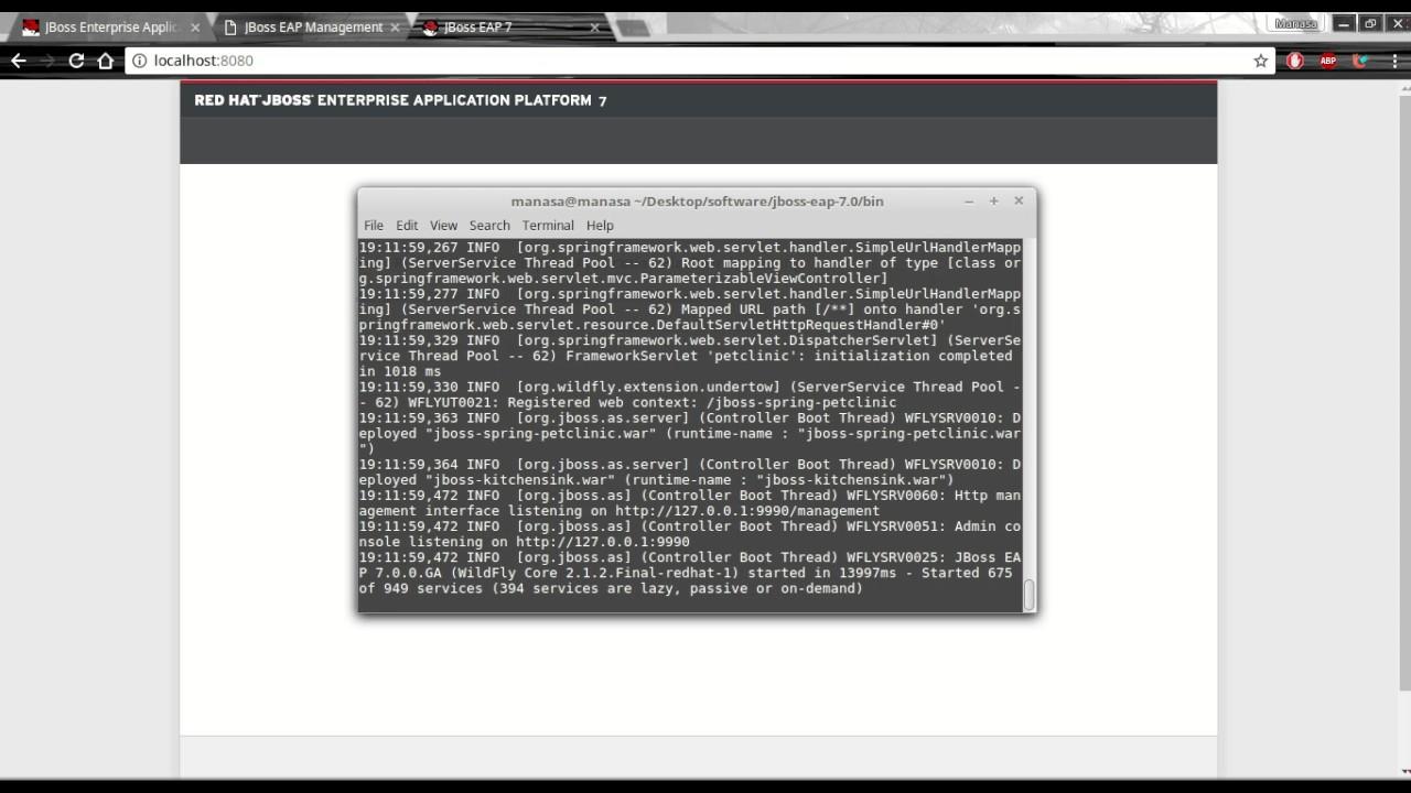 JBoss EAP 7 Deploy Application on Standalone mode - Самые