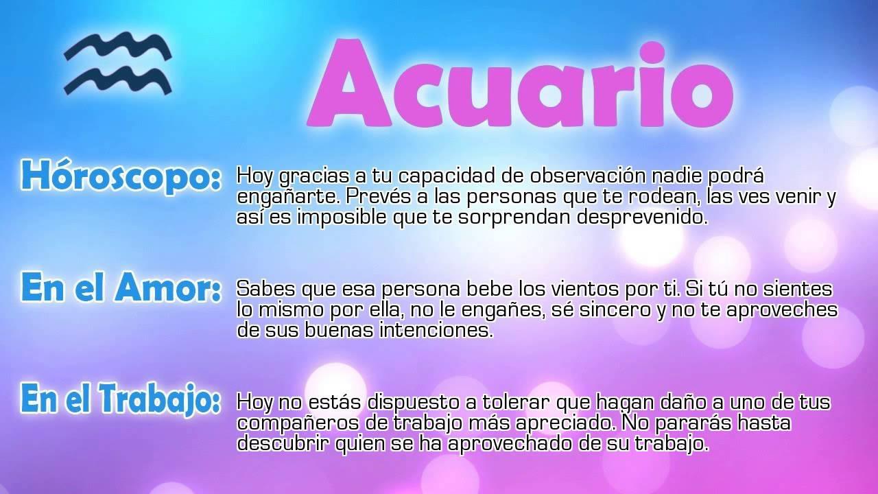 Hor scopo del d a acuario 12 03 2015 youtube for Signo acuario para hoy