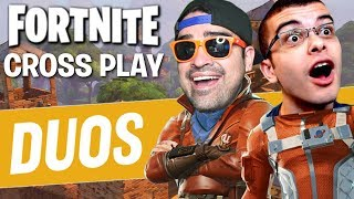 EPIC DUOS with NickEh30! | Fortnite Battle Royale Cross Play PS4 + PC