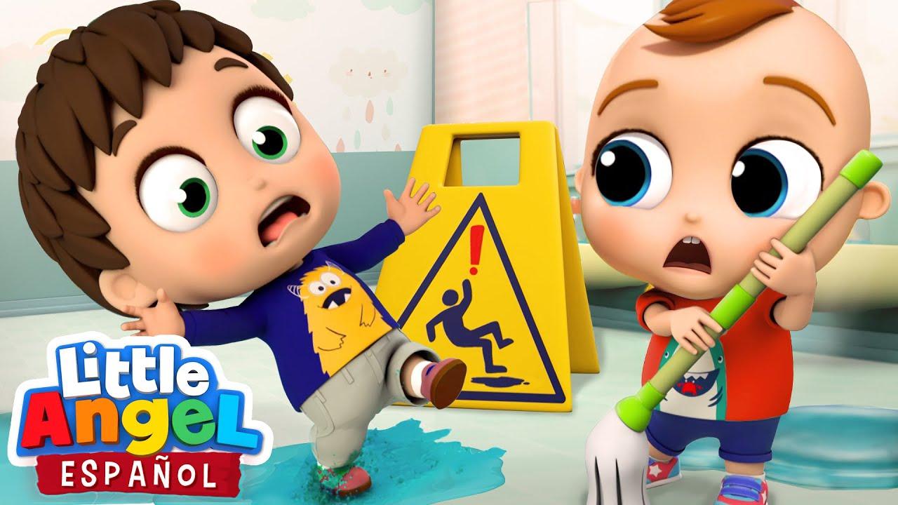 Reglas de Seguridad en la Escuela 🚸    Canciones Infantiles de Bebé Juan   Little Angel Español