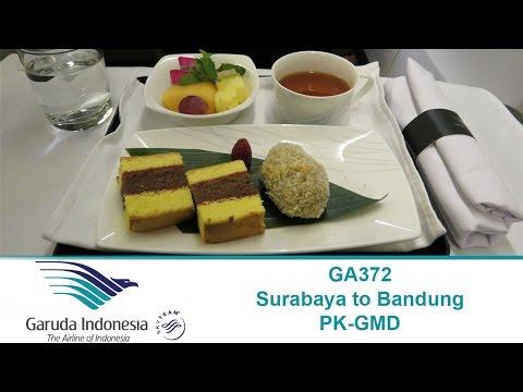 Garuda Indonesia Domestic Business Class Boeing 737-800 SUB (Surabaya) to BDO (Bandung)