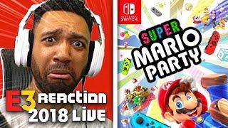 SUPER MARIO PARTY LIVE REACTION! - NINTENDO [E3 2018]