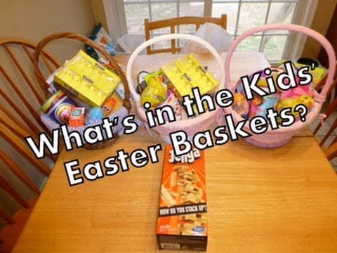 Whats in the kids easter baskets youtube negle Image collections