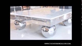 Modern Marble Coffee Table - Volakas -lombardia