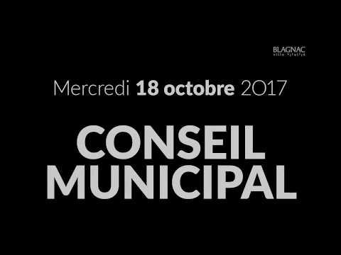Conseil municipal du mercredi 18 octobre 2017 - Ville de Blagnac