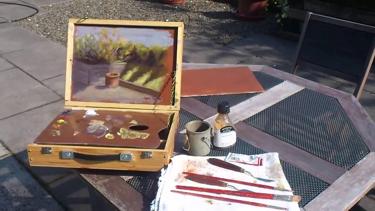 Plein Air Oil Painting Easel
