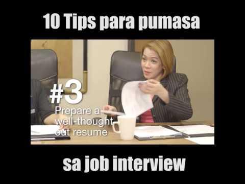 10 tips para pumasa sa Job interview