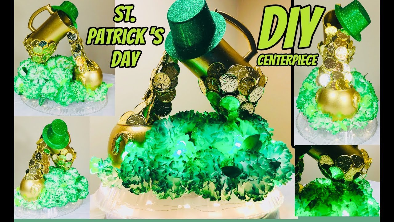 ad1f10bb8 Dollar Tree DIY ST. Patrick's Day Beer Mug Gold Coins Centerpiece 2019