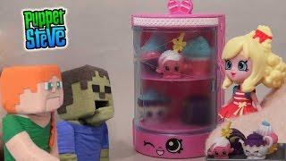 Shopkins Food Fair Cupcake Collection Set Unboxing Review w/Puppet Alex & Zombie