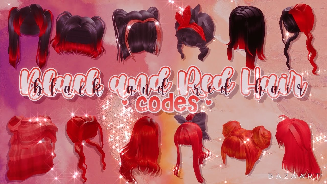 Black And Red Hair Codes Roblox Bloxburg Youtube