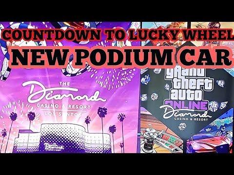 GTA 5 Online Diamond Resort And Casino Countdown To New Lucky Wheel Podium Car, Zion Classic