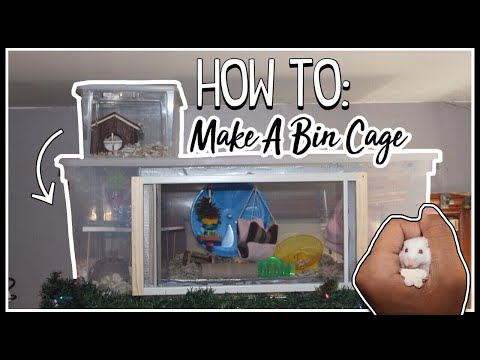 How To Make A Bin Cage! | DIY Sliding Door *Feature* | DIY Pet Cages For Rodents