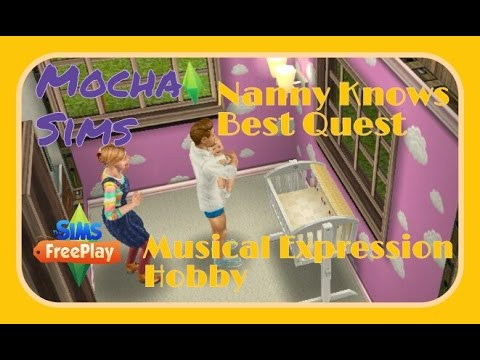 The Sims Freeplay - Nanny Knows Best Quest/ Musical Expression Event