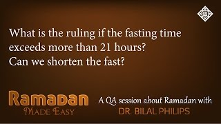 QA - What is the ruling if the fast exceeds more than 21 hours?