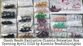 Czech Beads Exclusive Classic Bohemian Box Opening April 2019