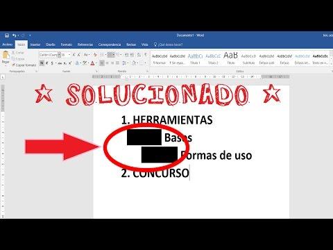 Aparece cuadrado negro en la numeración de WORD Lista Multinivel, SOLUCIONADO..!!! | Sandro Peralta