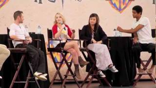 Evanna Lynch talks about having to shout at Daniel Radcliffe