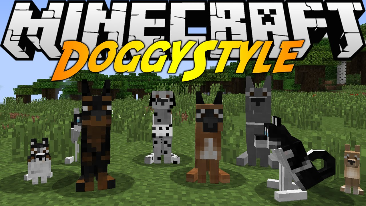 Minecraft Mods Doggy Style Mod  Different Breeds Dog Houses Youtube