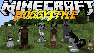 Minecraft Mods: DOGGY STYLE MOD (1.7.10) DIFFERENT BREEDS! DOG HOUSES!