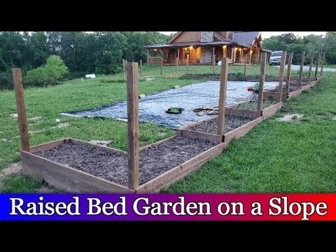 Building Raised Beds Down A Slope, How To Build A Raised Garden Box On Slope