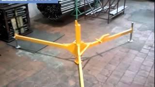 видео Мачта для антенн   12 метров оцинкованная телескопическая
