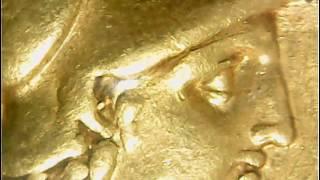 紀元前336-323年 古代ギリシャ マケドニア王国 アレクサンドロス大王 スターテル金貨 未使用~準未使用品