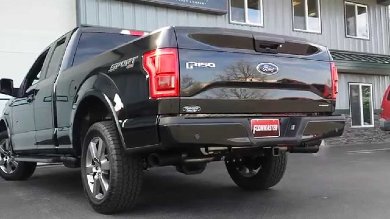 2015 Ford F150 Performance Exhaust System Kit Flowmaster Outlaw Cat Back Truck 817726 - YouTube