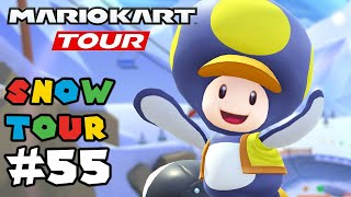Mario Kart Tour: NEW Snow Tour - Gameplay Walkthrough Part 55